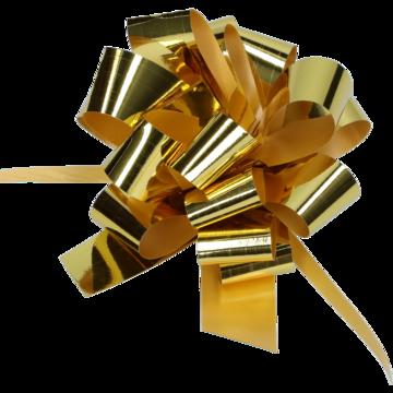 gift bow met gold Ø90mm metallic