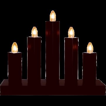svart adventsljusstake