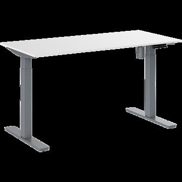 Skrivbord Pro Med Vitt Stativ 1800x800mm svart billigt online
